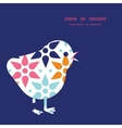 abstract colorful stars chicken silhouette vector image vector image