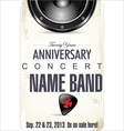 Anniversary Rock concert poster vector image vector image