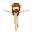 avatar jesus christ with cro vector image