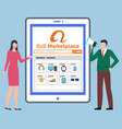 b2b marketplace online store shopping vector image vector image