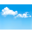 Background with blue sky and clouds backgrounds vector image vector image