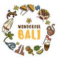 bali icons set vector image