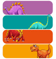 banner template with huge dinosaurs vector image