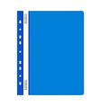 Blue plastic folder vector image