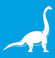 brachiosaurus dinosaur icon white vector image vector image