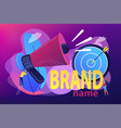 brand name concept vector image