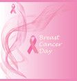 breast cancer diagram vector image vector image