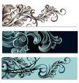 brochures set with victorian ornament vector image vector image