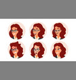 business woman avatar woman face emotions vector image vector image