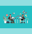 businessman and woman working at modern office vector image