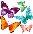 Butterflies set vector image