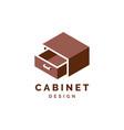 cabinet logo design furniture vector image vector image