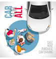 car for all auto for everyone vector image vector image