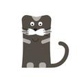 cat icon cartoon flat isolated happy black vector image