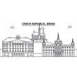 chech republic brno architecture line skyline vector image