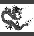 chinese dragon silhouette vector image