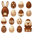 chocolate easter figures vector image vector image