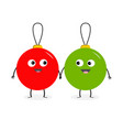 christmas ball toy icon set love couple looking vector image