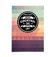 Cocktail bar menu template design