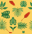 composition tropical leaves seamless symmetry vector image