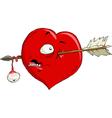 crippled heart vector image vector image