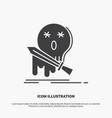 death frag game kill sword icon glyph gray symbol vector image vector image