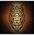 Decorative Owl Ethnic pattern vector image vector image