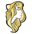 decorative portrait of shaman blondie girl with vector image vector image