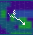 dollar money fall down icon symbol with blur vector image vector image