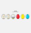 easter egg design element collection set on light vector image vector image