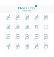 easy icons 18e docs vector image vector image