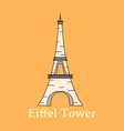 eiffel tower architecture from paris france vector image