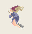 fairy tale characters young witch vector image