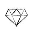 figure beauty luxury diamond gen accessory vector image vector image
