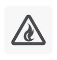 fire icon black vector image