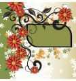 Floral decorative frame