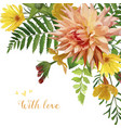 flower square card design garden rose primrose vector image