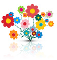 Flowers Flower Cartoon Retro Colorful Flow vector image vector image
