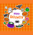 frame with cute halloween vector image vector image