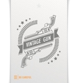 Gray graphic pattern guns and bullets vector image