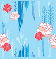 hand drawn floral seamless background pattern vector image vector image