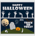 happy halloween trick or treat vector image vector image