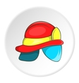 Helmet of firefighter icon cartoon style vector image vector image