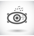 icon of car speakers vector image vector image