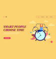 landing page time management concept website or vector image vector image