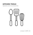 linear kitchenware icon vector image vector image