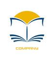 modern book logo vector image