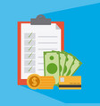 money and savings concept vector image vector image