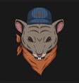 mouse head bandana vector image