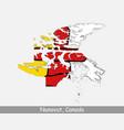 nunavut canada map flag vector image vector image
